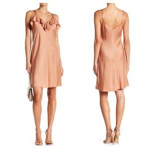 NWT $395 ALC ruffle satin slip dress cocktail 0